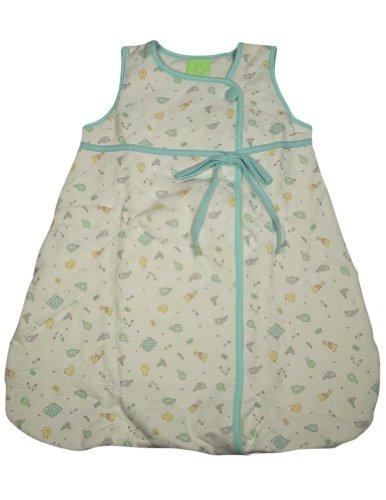 Snopea - Baby Girls Sleeveless Soap Suds Quilted Lounge Bag, White, Aqua 29270-Infantsizes front-703054