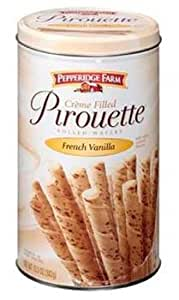 Pepperidge Farm Crème Filled Pirouette French Vanilla Rolled Wafers 13.5-ounce (pack of 6)
