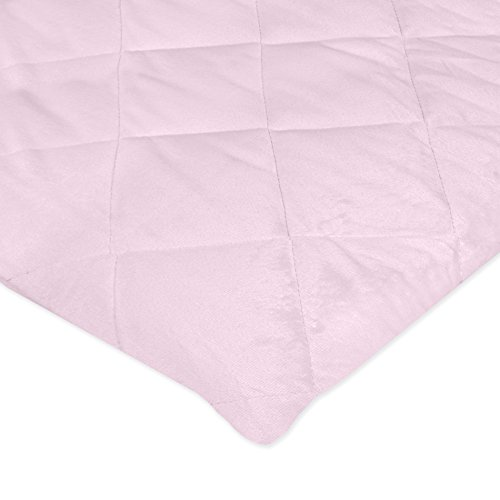 Carter's Valboa Quilted Fitted Playard Sheet, Pink Blossom
