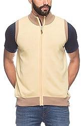 Raymond Men's Woolen Sweater (8907252535606_RMWY00448-Y4_39_Yellow)