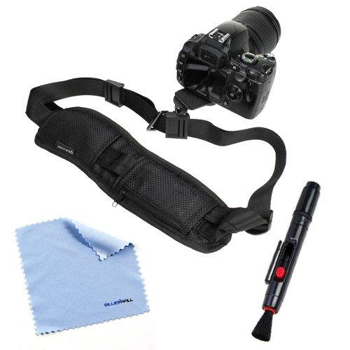 Birugear Lcd Lens Pen + Black Dslr Camera Neck/Shoulder Belt Strap With Quick Setup Plate + Microfiber Cleaning Cloth For Canon Sx510 Hs, Sx50 Hs, Eos 70D, 6D, Sx500 Is, Xt Xti Xs Xsi T1I T2I T3I T3 T4I; Nikon D5200 D3200 D5100 D800 D4; Pentax X-5 645Z An