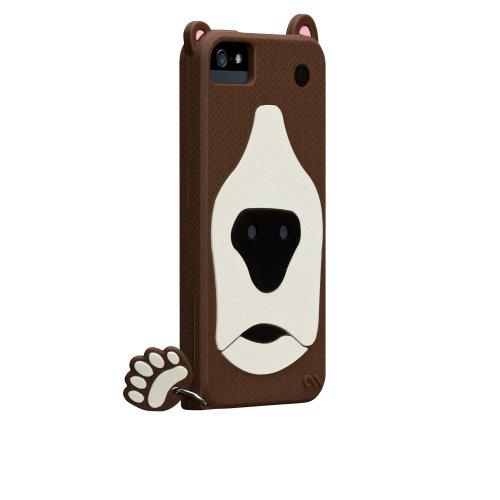 Case-Mate 日本正規品 iPhone5 CREATURES: Grizzly Case, Light Blue クリーチャーズ: グリズリー ベアー シリコン ケース, ブラウン CM022551
