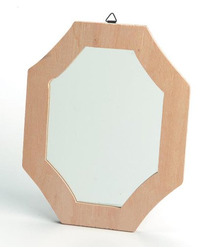 Darice 9162-93 Mirror with Plywood Frame Craft