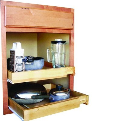 EXPANDABLE PULL OUT CABINET SHELF, WOOD (Roll Out Cabinet Drawers compare prices)
