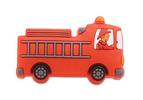 4PCS Belle Porte enfants Poignées de tiroir Poignées Truck Ladder RED Motif
