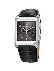 Baume Mercier Men's 10030 Hampton Mens Black Leather Strap Chronograph Watch
