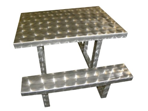 Ofab Custom Theme Tables Modern Kids Picnic Table, Silver