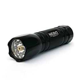 NEBO CSI 8 LED Black Tactical Laser Self Defense Flashlight Model #5077 Includes 3 Batteries!