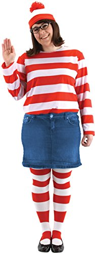 Morris Costumes Women's Where'S Waldo Wenda Pls Sz Kit, 2X Large