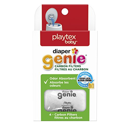 Playtex Diaper Genie Carbon Filters Refill Tray, White, Pack of 4 (Diaper Genie Ii Elite compare prices)