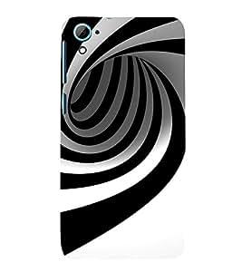 EPICCASE Black N White illustion Mobile Back Case Cover For HTC Desire 826 (Designer Case)