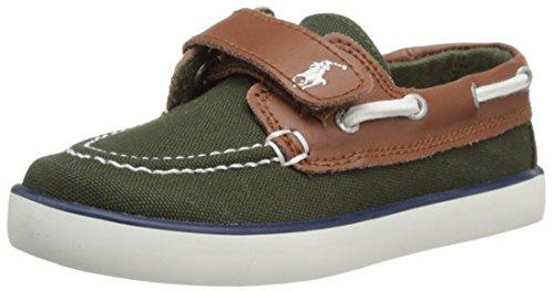Polo Ralph Lauren Kids Sander-CL EZ Sneaker (Toddler),Olive Tan,6.5 M US Toddler
