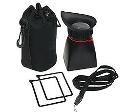 Professional 2x Magnification Viewfinder for Canon EOS Rebel 6D, 7D, 60D, 70D, SL1, T3i, T4i, T5i, T6i, T6s, T5 - Pentax K-S1, K-S2, K-3, K-5 II, K-30, K-50 Digital SLR Camera