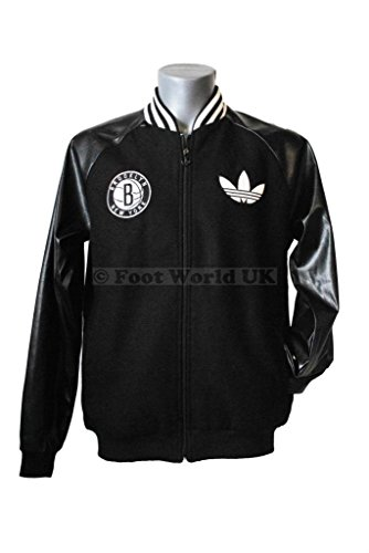 Adidas Men's Official Brooklyn Nets Wool Letterman Jacket детская футболка классическая унисекс printio brooklyn nets
