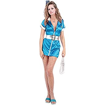 Sexy Airline Flight Attendant Costume (Size: Large 8-10)