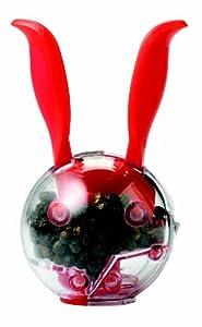 Chef'n Mini Magnetic Pepper Ball and Salt Ball Set, Cherry