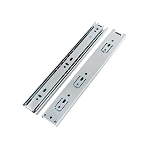 "Double Fully Extension Ball Bearing Drawer Slide Runners Heavy Duty (12"" 300mm Closed - 610mm Open)"