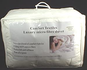 Emperor Size 290cm x 235cm (For 7FT x 7FT Beds) Microfibre Soft as Goose Down 13.5 Tog Box Stitched Duvet       Customer review and more information