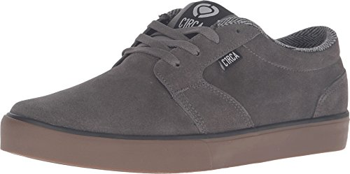 C1RCA Men's Hesh 2.0 Skateboarding Shoe, Gunmetal/Gum, 8.5 M US