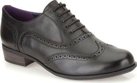 Clarks Women's Hamble Oak Black Leather Oxford 10 B (M)