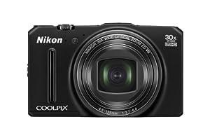 """Nikon Coolpix S9700  Appareil photo numérique compact 16 Mpix Ecran 3"""" Zoom optique 30x Noir"""