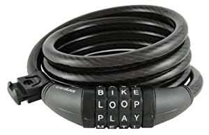 Amazoncom wordlock cl 400 bk 4 letter combination bike for 4 letter bike lock