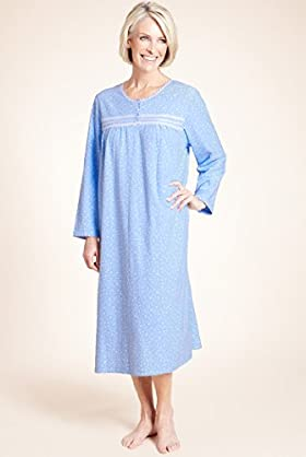 Long Sleeve Spotted Fleece Nightdress