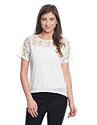 Madame Women's Body Blouse Top (M1511009_Off-White_Small)