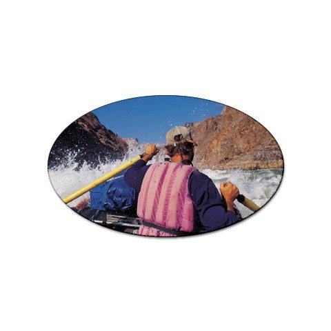 White Water Rafting sport oval magnet