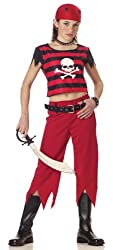 Childs Punk Pirate Girl Halloween Costume (Size: Large 12-14)