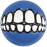 Rogz Grinz Dog Toy Ball to Hide Treats, Small, Blue