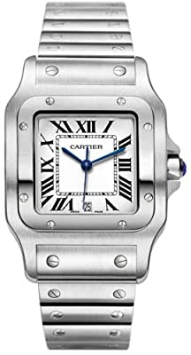 Cartier Men's W20060D6 Santos Galbee Stainless Steel Watch by Cartier