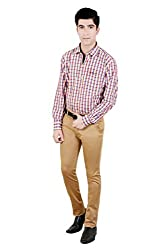 T.D.G Casual Long Sleeve Cotton Shirt (Red)