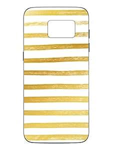 Samsung S7 Cover - Gold Stripes - Designer Printed Hard Shell Case