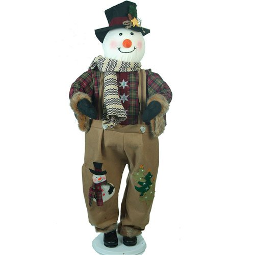 """60"""" Giant Life-Size Pop-Up Country Rustic Snowman Christmas Decoration"""