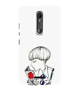 EPICCASE Artistic girl Mobile Back Case Cover For Moto X 3rd Gen (Designer Case)