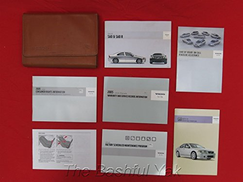 2005 VOLVO S60 R Owners Manual with Case S60R RARE (Volvo S60 Owners Manual compare prices)