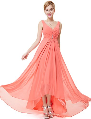 Ever Pretty Womens Long Semi Formal Wedding Guest Dress 14 Us Coral
