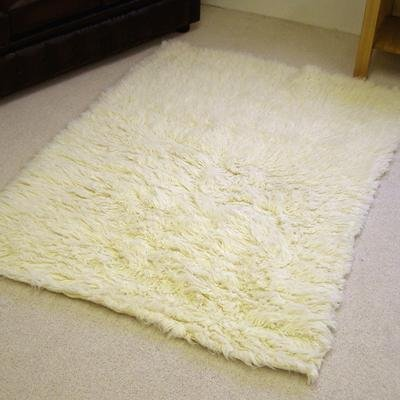 100% Wool Rug Greek Flokati Natural 1.8m x 2.7m (6' x 9' approx)