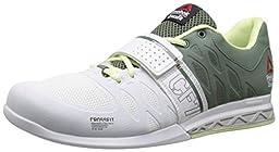Reebok Women\'s R Crossfit Lifter 2.0 Training Shoe, White/Silvery Green/Citrus Glow/Steel, 9.5 M US