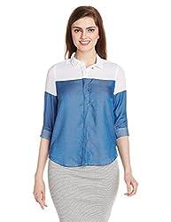 Lee Women's Tunic Shirt (LESH9126_Blue_Small)