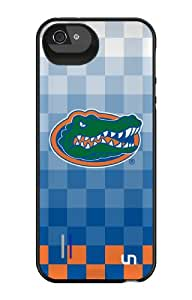 Uncommon LLC University of Florida Pixel Stripe Power Gallery Battery Charging Case for iPhone 5/5S - Retail Packaging - Blue/Orange/Green
