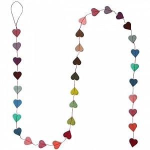 Lamali 5' Tiny Heart Garland, Multi