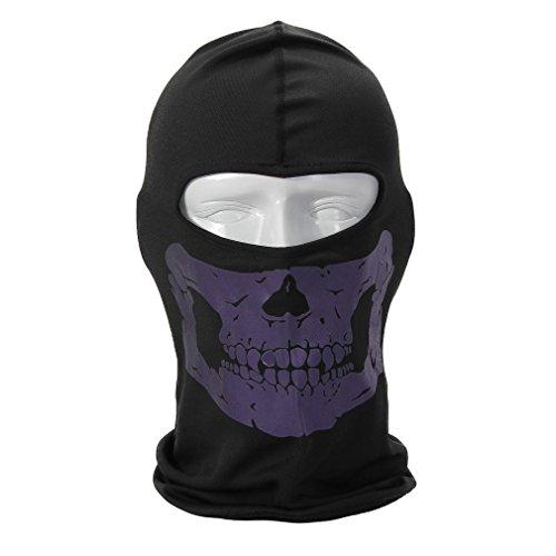Rioriva Bandana Novel Skull Bike Motorcycle Helmet Neck Face Mask Paintball Ski Headband (Skull-purple),One Size,BC-05 (Paint Ventilator compare prices)