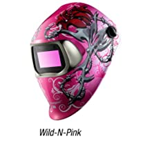 3M Speedglas Wild-N-Pink Welding Helmet 100 with Auto-Darkening Filter 100V- Shades 8-12, Model 07-0012-31WP