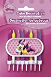 Disney Minnie Mouse Candles and Sign Cake Decoration