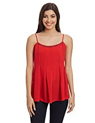 And Women's Peplum Top (AW16NA91TTG1_Red_12)