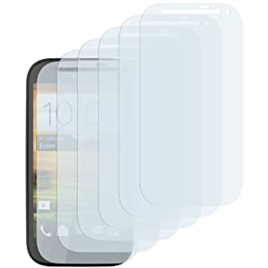 6 x mumbi Displayschutzfolie HTC One SV Schutzfolie CrystalClear unsichtbar (bewusst kleiner als das Display, da dieses gewölbt ist)