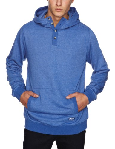 Etnies Two Teff Pullover Fleece Men's Sweatshirt Blue/Heather Large