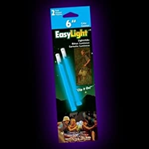 Outdoor Glow Stick -Pack of 2 (Blue, 6-Inch)